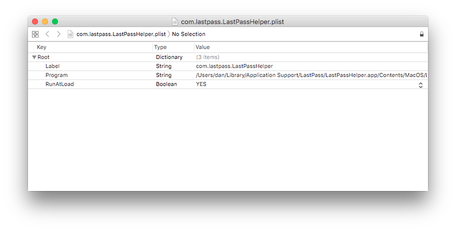 LastPass binary component fix